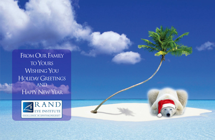 From The Sunny Weather In South Florida Rand Eye Institute Would Like To Wish You Happy Holidays And A New Year